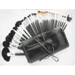 Wholesale Cheap Professional Makeup Cases - Professional Cheap Makeup Brushes 32 PCS Cosmetic Brand Brushes Set Kit Case Free Shipping M Makeup