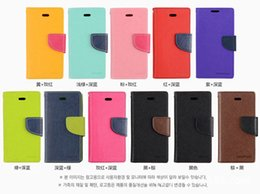 Wholesale S4 Folio Flip Case - Mercury Wallet leather PU Hybrid Case Folio Flip Cover for Samsung Galaxy s3 s4 s5 s6 Edge Mini Note 3 4 5 7 No Package