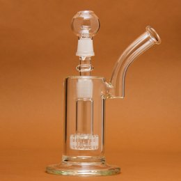 Wholesale Glass Dome Vase - Bubbler Hand Blown Glass Vase Perc Percolator Water Smoking Pipe 18.8mm Joint With Dome Nail WP001