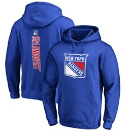 Wholesale Kids Fleece Hoodies - 2017 NHL New York Rangers 30 Henrik Lundqvist 27 Ryan McDonagh 36 Mats Zuccarello Name & Number hoodies for man women kid