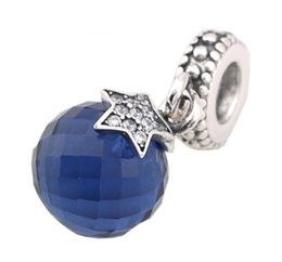Wholesale Bracelet Ball Dangle - Sterling Silver Charms 925 Ale Crystal Ball Star Dangled European Charms for Pandora Bracelets DIY Beads Accessories