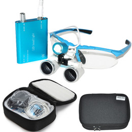Wholesale Dental Protective Glasses - Brand New Dentist Head Light Dental Loupes Surgical Medical Binocular Loupes 3.5X 420mm Optical Glass Loupe With Protective Case