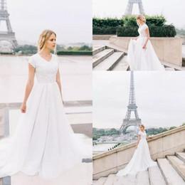 fac6483fc7cc semplice vestito da cerimonia nuziale elegante di estate Sconti Semplici  abiti da sposa bohemien eleganti 2018