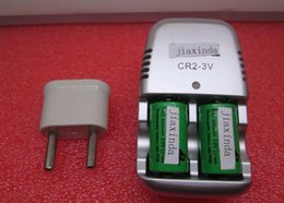Wholesale Cr2 Batteries Charger - HOT NEW CR2+charger 800mah 15270 3v Rechargeable lithium (2 battery +1charger) lithium battery