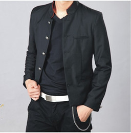 Wholesale Tunic Suits Men - Wholesale-Crows Zero Blazer Men New Brand Crows Zero Oguri Shun's Uniform Streetwear Men's Blazers For Men Chinese Tunic Suit