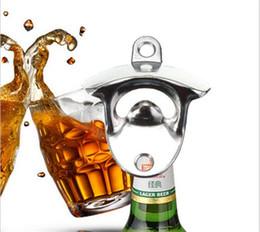 2019 bottiglie di soda d'alluminio 300 pz Hot Fashion In lega di zinco In Alluminio Montaggio a Parete Bar Birra Soda Vetro Cap Bottle Opener Utensile Da Cucina G163 sconti bottiglie di soda d'alluminio