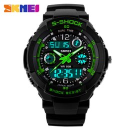 Wholesale Diver S Wristwatch - Men's Quartz Digital Watch Men Sports Watches Relogio Masculino SKMEI S Shock Relojes LED Military Waterproof Wristwatches