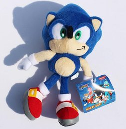 """Wholesale Sonic Doll - Free Shipping 9""""23cm Blue Sonic the Hedgehog Stuffed Animals Plush Toys Soft Doll For Children Retail"""