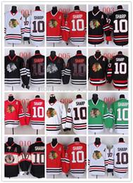 2019 maillot patrick sharp Maillots de hockey sur glace 2014 pas chers en gros Chicago Blackhawks # 10 Maillot Patrick Sharp Stadium, Logos de broderie promotion maillot patrick sharp