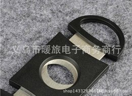 Wholesale Scissors Steel Blade - Pocket Cigar Cutter Plastic&Stainless Steel two Blades Scissors Cigar knife good gifts free shipping via epacket