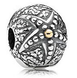 Wholesale Genuine Pandora Bracelets - Authentic Genuine Sterling Silver 925 Starfish Clip Charm Bead Fit for European Pandora Style Charm Bracelet
