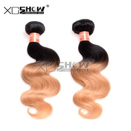Wholesale Dark Wine Color Hair - 8A Grade Peruvian Ombre Hair Extensions 1B 27 Wine Red Ombre Human Hair Weaves 1 Bundles Lot 10-30 inch Body Wave Ombre Hair