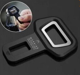 Wholesale Seat Belts Buckles Cars - Car safety belt clip Brand New and High quality Car Seat belt buckle Vehicle-mounted Bottle Opener Dual-use
