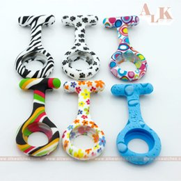 Wholesale Diy Silicone Watch - diy parts silicone sleeves for nurse and doctor watch with designed patterns zebra dog paw suitable for a medical nursing school students