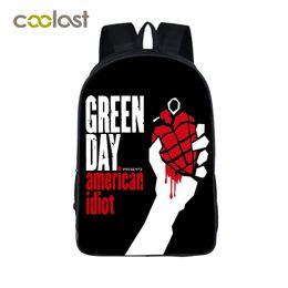 Wholesale Play Boy Men - Green Day Band Backpack for Teenage Girls Hip Hop Bags Cold Play Rock Children School Bag KPOP Men Travel Bag Schoolbag for Boys