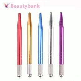 Wholesale Permanent Eyeliner - Single Head Cross Tattoo Pen Fog Body Art Microblading Tools Professional Permanent Makeup cross pen for eyeliner