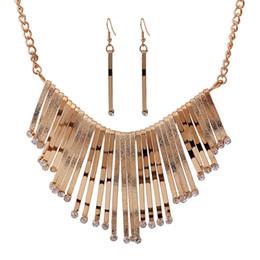 Deutschland Afrika Europa und Amerika Schmuck Sets Anhänger Halsketten Gold Silber Halskette Ohrring Kristall nigerianischen Frauen Hochzeit Zubehör Versorgung