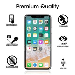 Wholesale Tempered Glass For S6 - Tempered Glass Film Screen Protector for Iphone X Iphone 7 Plus Iphone 6S Plus 5S Samsung S7 S6 Note 5 G530 Without Package