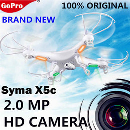 Wholesale Helicopter Spy Camera - Original SYMA x5c quadcopter Upgrade X5C-1 2.4G 4CH 6-Axis Toys RC Helicopter syma x5c hd camera Quadrocopter spy RC Drones cameras