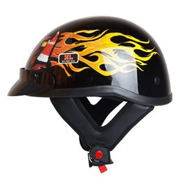 Wholesale Open Face Helmet Dot - Hot sale High quality ABS military style professional harley motorcycle helmet open face jet vintage helmets DOT Approved