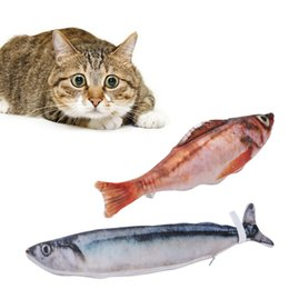 Wholesale mouse fishing - Catnip Cat Favor Kitten Fish Toy Cushion Grass Bite Chew Scratch Pillow Cat Toy Fish Stuff Simulation Scratching Post Board Toys