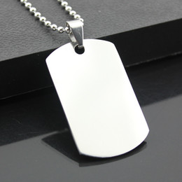 Wholesale Military Charms - Wholesale 12pcs Cool Military Army Style Stainless Steel Polished Dog Tag Charm Pendant Bead Chain Necklace Gift MN271