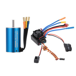 Wholesale Esc For Brushless Motor Car - 3660 2600KV 4P Sensorless Brushless Motor+80A Splash-Proof Brushless ESC with 5.3V 5A Switch Mode BEC for 1 8 1 10 RC Car