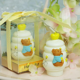 Wholesale Art Honey - honey pots Candle Favors Birthday candles Creative candle smoke free Birthday Gifts Wedding Supplies 2015 Wedding Gift Hot Sale