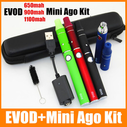 Wholesale G5 Vaporizer Wax - Vaping Herbs EVOD AGO G5 Dry Herb Vaporizer Wax oil Vape pens eVod 900 1100mah Vapes Pen Starter Kit