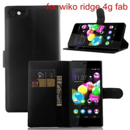 Wholesale Leather Cash Clip - PU Leather Case for Wiko Bloom 2   RAINBOW JAM 4G Stand Wallet Cash Slot Pocket 9 colors with Pouch soft tpu free DHL
