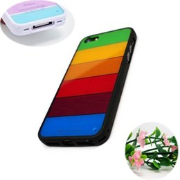 Wholesale Iphone4s Case Silicon - 1PC Pretty Design Silicon Rainbow Cover Shell Cover for iphone 4 4S case For Apple iPhone4 iPhone4S Free Shipping--PPWHE02-01
