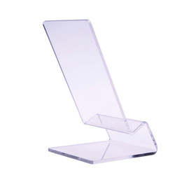 Wholesale Cell Display Stand - Wholesale-5X Clear Acrylic Mount Holder Display Stand for Cell Phone iPhone 4 4G 4S 5 S C HTC #50885