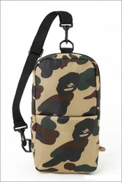 Wholesale Slings Bags - New Sling Chest Bags Unisex Travel Bags nylon Backpacks Outdoor One Shoulder Cycling Bags Camouflage Crossbody Bag Aape Ape