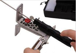 Wholesale Knife Sharpener Free Shipping - 2015 hot sale Professional Portable Fix-angle Apex Edge Knife Sharpener Set 5pcs Sharpening Stones Grinding free shipping