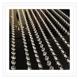 Canada Rideaux De Cristal En Gros De Mariage Perles Chaîne Transparent Cristal Octogonal Clair Acrylique Perle Guirlande Chaînes De Mariage Décoration Free DHL supplier acrylic bead curtains wholesale Offre