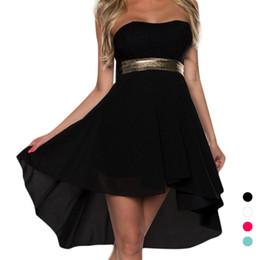 Wholesale Elegant Ballgown Dress - S5Q Women Summer Sexy Lace Ballgown Elegant Strapless Evening Party Mini Dress AAAFCL