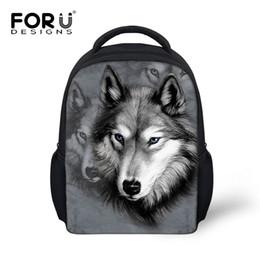 Wholesale Mochila Zoo - Animal School Bags For Kindergarten Zoo Wolf Pug Dog Print Kids Schoolbag Boys Children Casual Book Bags Mochila Infantil Bolsas
