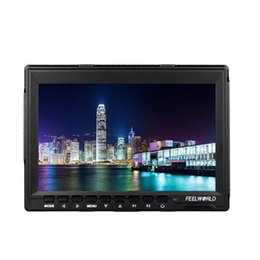 Wholesale Dslr Hdmi - Dslr Camera FW-759 IPS 7'' HD 1280X800 Field Monitor HDMI 400cd m2 Backlight 800:1 Peaking Filter Focus Assist 5D II Mode