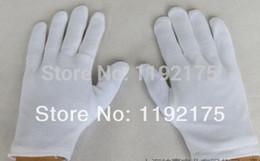 Wholesale Wholesale Men Sucks - Wholesale-12 pairs lot Thick] Cotton white gloves ceremonial gloves Driver Jewelry Full cotton gloves suck hands sweat anti-fingerprint
