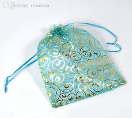 Wholesale Good Quality Organza Bags - Wholesale-Good Quality 100PCs 17x23cm Skyblue Organza Wedding Gift Bags&Pouches ,jewelry bag