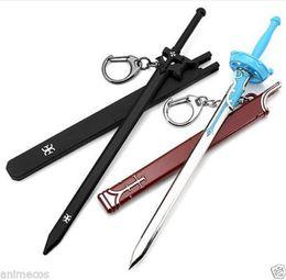 Wholesale Asuna Sword Keychain - 2PCS Sword Art Online SAO Kirigaya Kazuto Kirito Yuki Asuna Keychain Key Ring