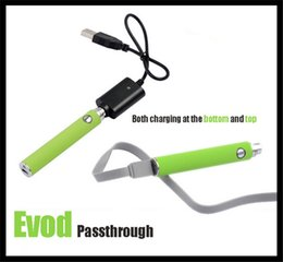 Wholesale Ego V Pass Through - USB pass through Evod Ugo V battery Ugo T EGO Passthrough Battery UGO-V 650mah 900mah Android Battery Evod vv battery mt3 ce4