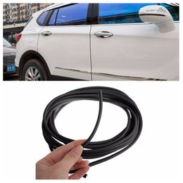 Wholesale 3d Bumper Stickers - Car Anti Collision Side Door Edge guard rubber bumper protection sticker strip 5m styling mouldings decorative strip