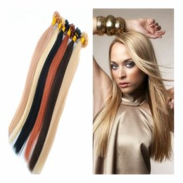 Wholesale Nails Online - Online Wholesale 100% Remy Human Hair 1g s 100s White Blonded Brazilian Keratin Shape Hair Extensions U Tip Nail Tip Hair