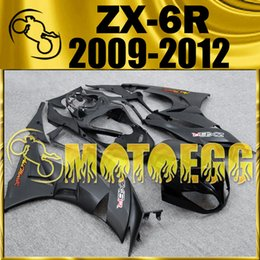Wholesale Kawasaki 636 Fairings Set - Five Gifts Motoegg Injection Mold Plastic Fairings Complete Set For Kawasaki Ninja 636 ZX-6R 2009-2012 ZX 6R 09-12 Matte Black K69M09