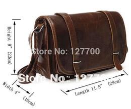 Wholesale Leather Cowboy Bags - Wholesale-3118C-1 Cowboy Vintage Leather Chocolat Shoulder Business Messenger Bag