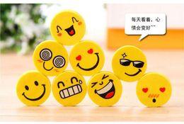 Wholesale Mini Eraser Rubber - 4 pcs lot Mini Cute Cartoon Kawaii Rubber Smile Face Eraser for Kids Gift School Supplies Korean Papelaria Free shipping
