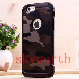 Wholesale Camo Iphone Hard Case Wholesale - Hybrid Shockproof Rugged Camo Camouflage Hard Cover Case for iPhone 5s 6 6S plus Samsung Galaxy S5 S6 Edge S7 Note 4 5