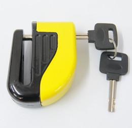 Wholesale Disc Brake Bike Wheel - 10mm Security Motorcycle Bike Sturdy Wheel Disc Brake Lock Safety Alarm with Battery And key Loud Alarm