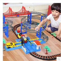 Wholesale Harmony Toy - 2018 new hot children charging Thomas small train set rail car high speed rail harmony number